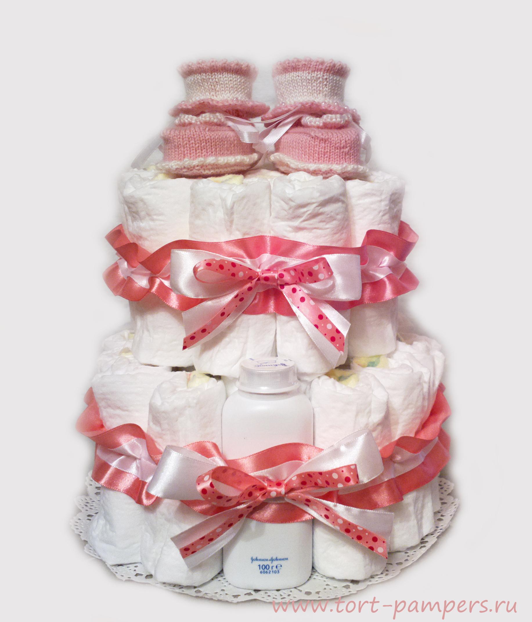 Подарок на выписку из роддома своими руками из памперсов